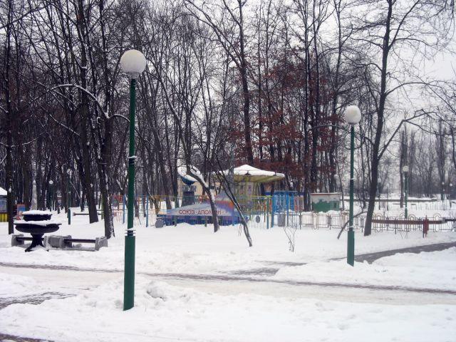 Городской парк - опять ошибка? Нет, просто буковка упала (фото)