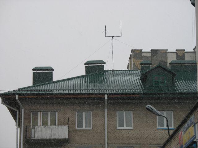 В Бресте идет снег (фото)
