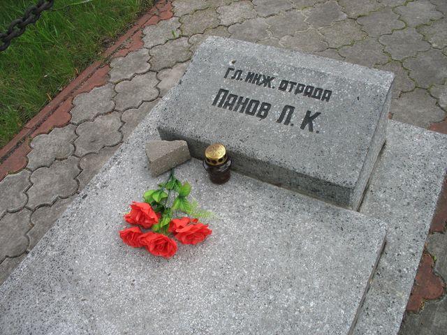 Памятник павшим строителям Днепро-Бугского канала - неизвестный Брест