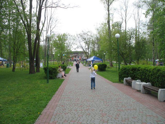 Парк 1 мая  (до дождя и во время дождя)