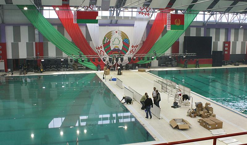 28 октября - последние приготовления к открытию Дворца водных видов спорта (фото)
