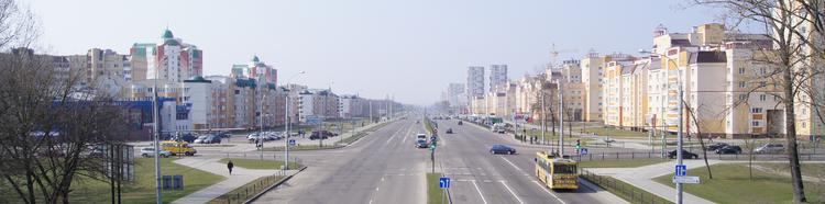 Въезд в г. Брест со стороны Минска