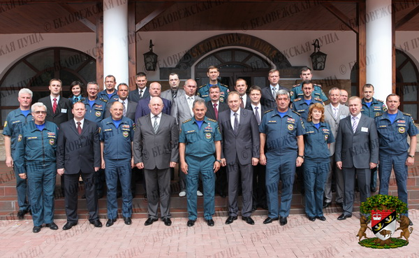 Совместная коллегия МЧС Беларуси и России прошла в Беловежской пуще