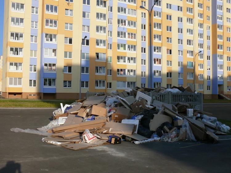 Горы мусора вырастают рядом с новостройками в Бресте