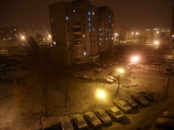 Ожидаемый в Новогоднюю ночь снег пошёл только вечером 1 января
