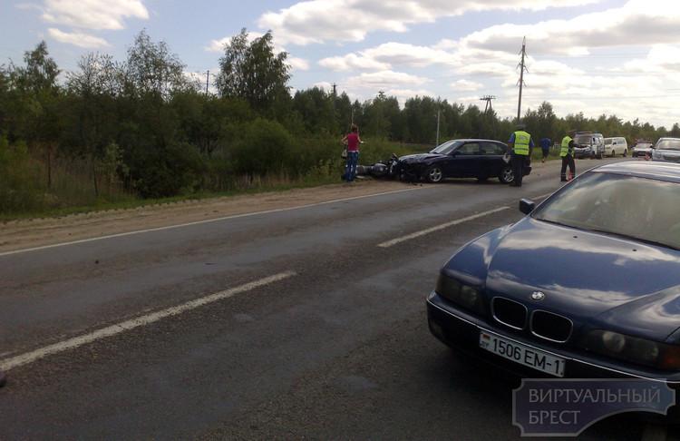 На въезде в Брест сбили мотоциклиста