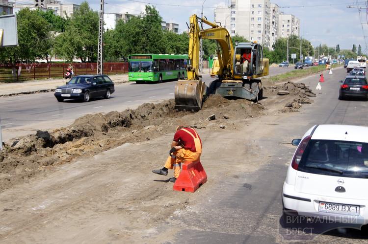 Улица Я.Купалы - ремонт продолжается