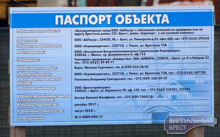 Брестский областной суд отказался приостановить строительство завода АКБ