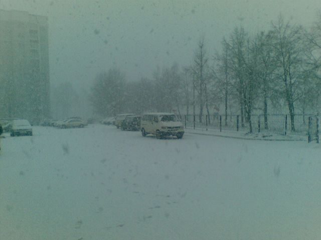 Утром 28 февраля в субботу Брест утонул в снеге