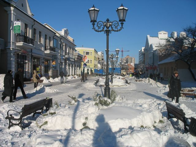 Советская - работы по уборке снега идут полным ходом