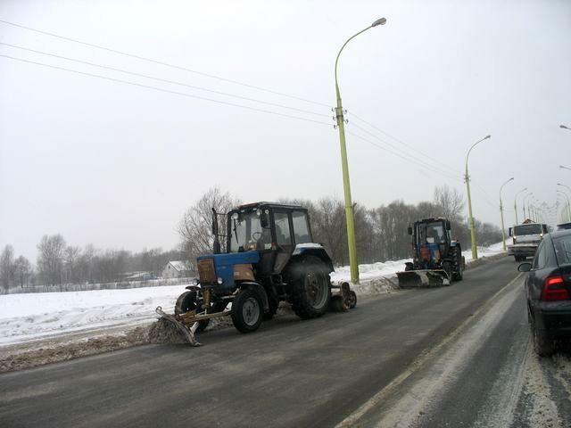 Брест снова накрыла волна снега  с улиц города
