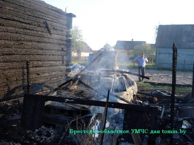 Огненная «атака» на автотранспорт: на Брестчине сгорели два «Фольксвагена»…